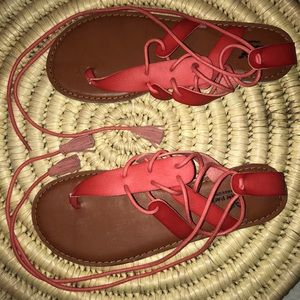 American Eagle Coral Gladiator Sandals